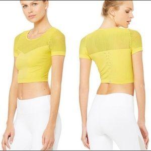 ✨ALO YOGA mesh t-shirt crop top! ✨